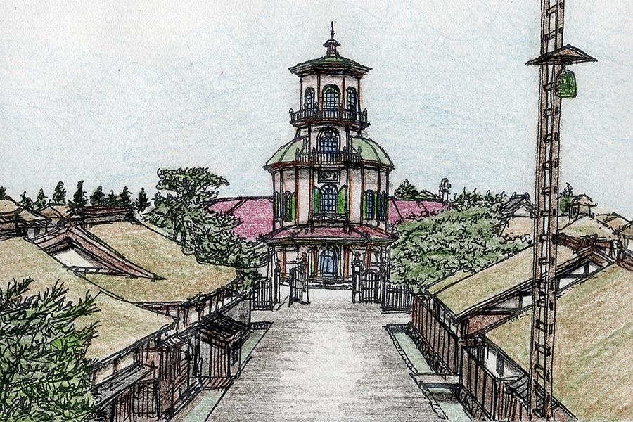 志村直愛 #02 山形市・旧済生館(さいせいかん)病院本館 完成当時の七日町との対比