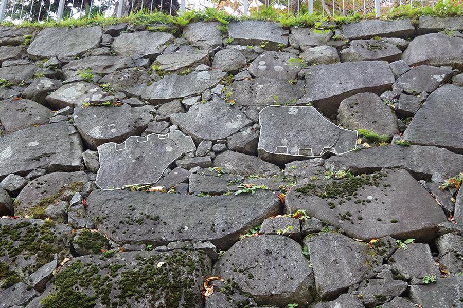 北野博司 #07 盛岡城跡の石垣 双子石を探そう(答え)