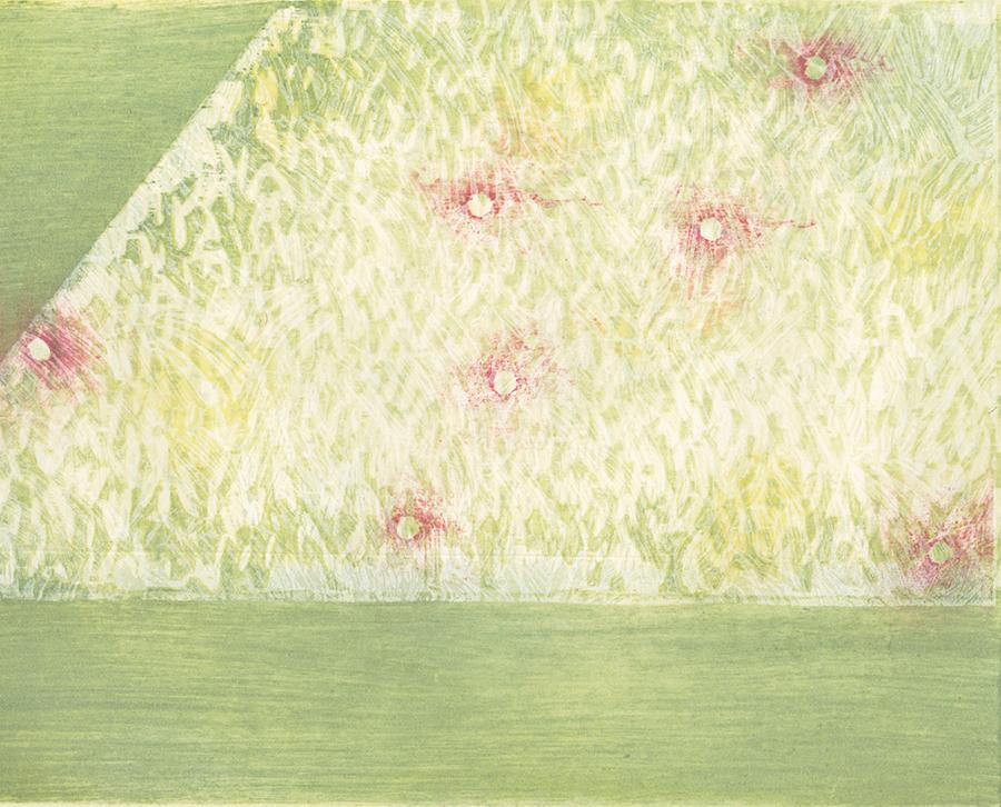 酪農アーティスト、版画家 下山明花さん 作品名《Green garden》